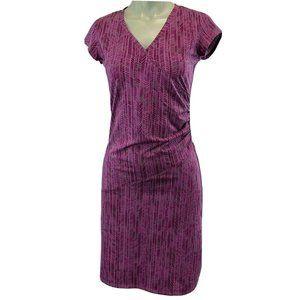 Athleta Nectar Purple Print Athleisure Dress